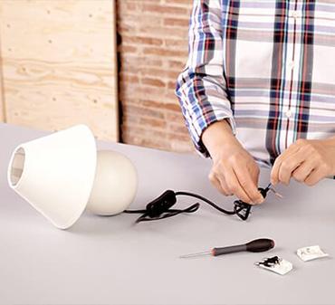 reparer un luminaire